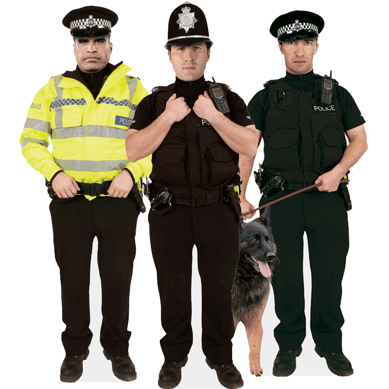 Cardboard Cut Out Police Standees