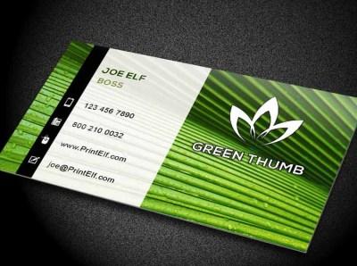 Free logo to download. Freelance entrepreneur. Green thumb