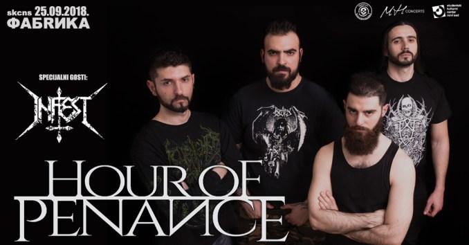HOUR OF PENANCE + INFEST Novom Sadu