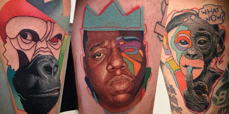 Dzikson Wild e suas Tatuagens