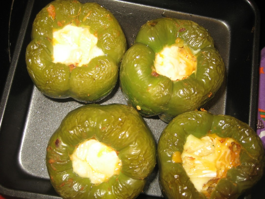 Stuffed Green Peppers (capsicum)