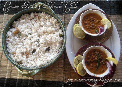 Coconut Rice & Kaala Chole