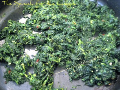 Spinach for Lasagna