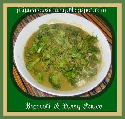 Broccoli Curry Sauce