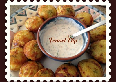 Paneer-yarams with Creamy Fennel dip