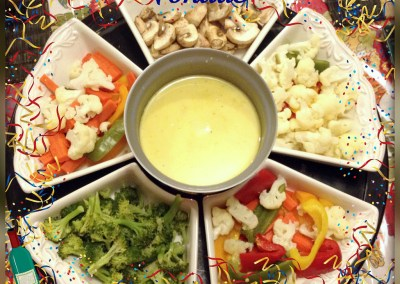 Fondue with Steamed Veggies