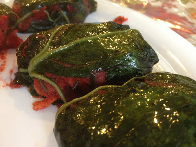 Taro Leaves Dolmades