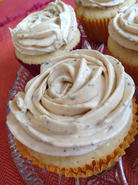 Salted Caramel Cupcake With Caramel-Coffee Butter Cream Frosting
