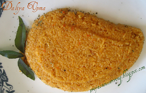 Veggie Juice Daliya (Cracked Wheat) Upma