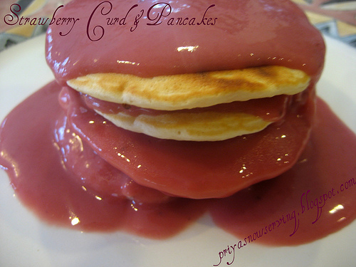 Strawberry Curd & Pancakes