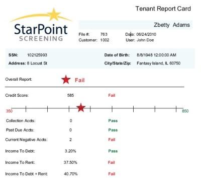 Starpoint Tenant Screening Offers Tenant Credit Report Card -- Kelly Gontarski   PRLog