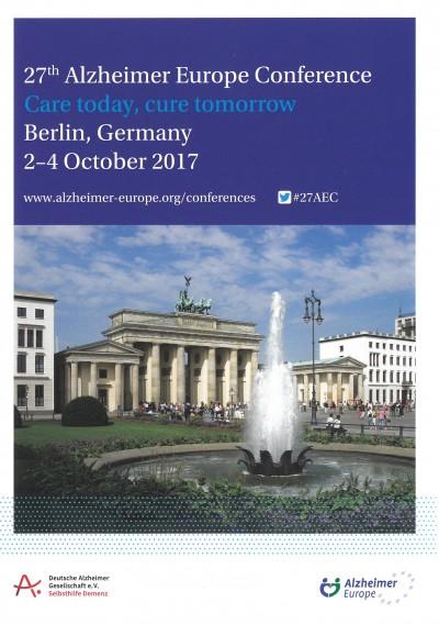 Care today, cure tomorrow - 27. Konferenz von Alzheimer Europe in Berlin eröffnet