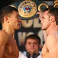 Golovkin vs. Geale weigh-in results & photos