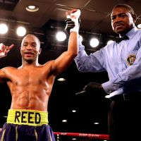 Mike Reed in action this weekend in A.C., on Glen Tapia undercard