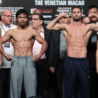 Manny Pacquiao vs. Chris Algieri weigh-in results, photos & videos