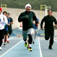 Photos: Manny Pacquiao hits the track for conditioning work