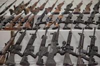 Un decomiso de armas a Zetas en Coahuila. Foto: Miguel Dimayuga