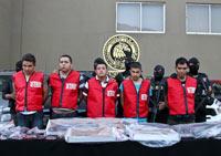 La presentación de los presuntos homicidas. Foto: AP