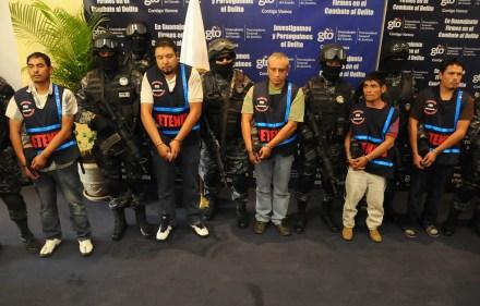 Algunos de los detenidos. Foto: Cortesía.