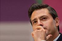 Enrique Peña Nieto en la FIL de Guadalajara. Foto: AP
