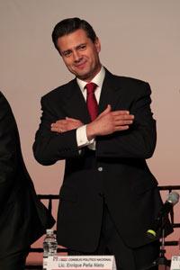 El aspirante presidencial del PRI, Enrique Peña Nieto. Foto: Miguel Dimayuga