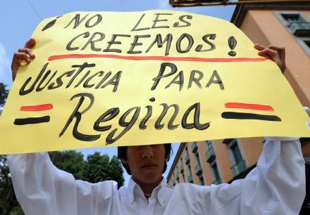 El repudio al asesinato de Regina Martínez. Foto: Rubén Espinosa