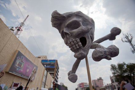 Una de las protestas de #YoSoy132 en Televisa Chapultepec. Foto: Alejandro Saldívar
