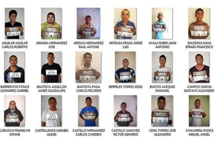 Algunos de los reos que se fugaron del penal de Piedras Negras. Foto: Especial