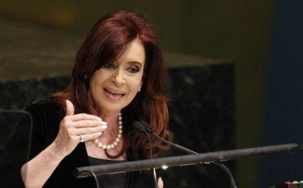 La presidenta de Argentina, Cristina Fernández de Kirchner. Foto: AP