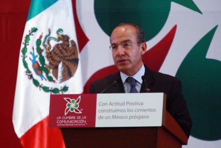 Felipe Calderón, titular del Ejecutivo. Foto: Presidencia