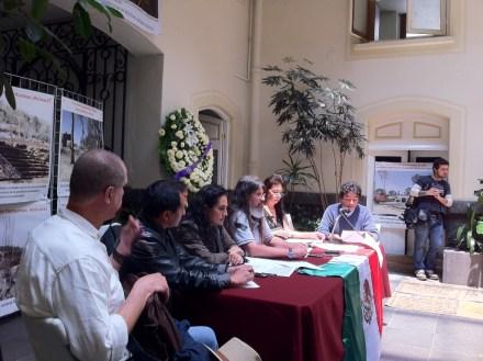 Conferencia de investigadores y arquitectos del INAH. Foto: Especial