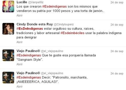 Los tuits del odio. Foto: Twitter.com