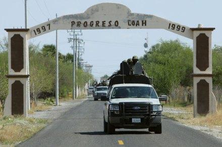 Operativo militar en los alrededores de Progreso, Coahuila. Foto: Víctor Hugo Valdivia
