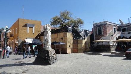 El Barrio del Artista en Puebla. Obra negra. Foto: Gabriela Hernández
