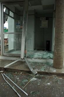 Aspecto del robo de un cajero automático en 2006. Foto: Miguel Dimayuga