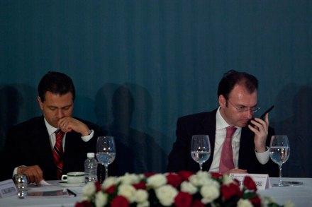 Peña y Videgaray. Sin estrategia. Foto: Miguel Dimayuga