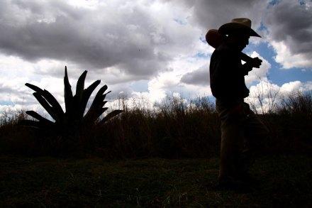 Un productor de pulque en Apan, Hidalgo. Foto: Alejandro Saldívar