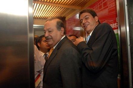 Slim y Elías. Intereses globales. Foto: José Manuel Jiménez