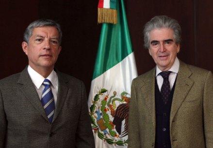 Sergio Raúl Arroyo y Rafael Tovar y de Teresa. Foto: Germán Canseco