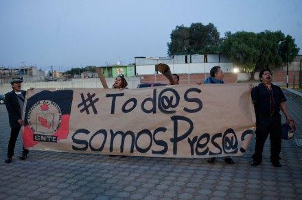 Estudiantes exigen la liberación de sus compañeros en Santa Martha. Foto: Eduardo Miranda