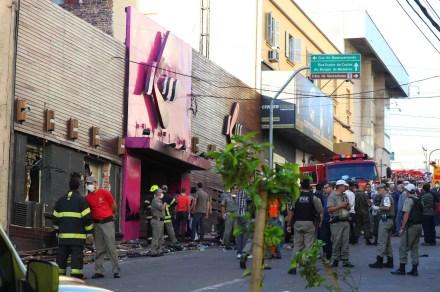 La discoteca Kiss, donde ocurrió el incendio. Foto: Xinhua