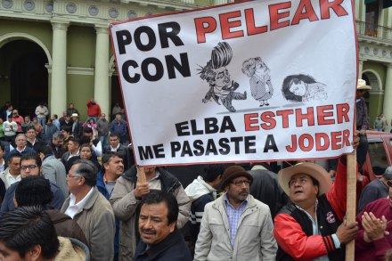La protesta de los maestros en Veracruz. Foto: Noé Zavaleta