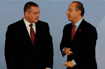 García Luna y Calderón. Complicidades Foto: Miguel Dimayuga