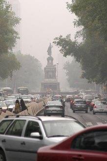El DF con altos niveles de contaminación. Foto: David Deolarte
