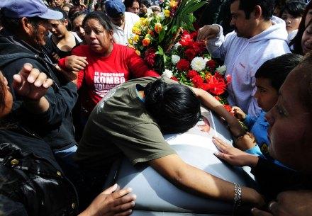 Sepultan a integrantes del grupo Kombo Kolombia en Nuevo León. Foto: Miguel Ángel Reyna