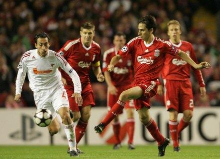 Un encuentro entre el Debrecen y el Liverpool. Foto: AP