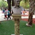 El busto de Sabines en Chiapas. Foto: Especial
