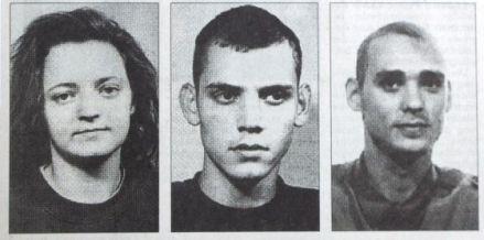 Beate Zschäpe, Uwe Böhnhardt y Uwe Mundlos, miembros de la banda neonazi NSU. Foto: Especial