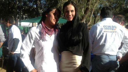 Giselle Arellano (derecha). Foto. Tomada de Facebook.