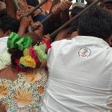 Campeche. Trabajadores se enfrentan con la policía. Foto: Especial